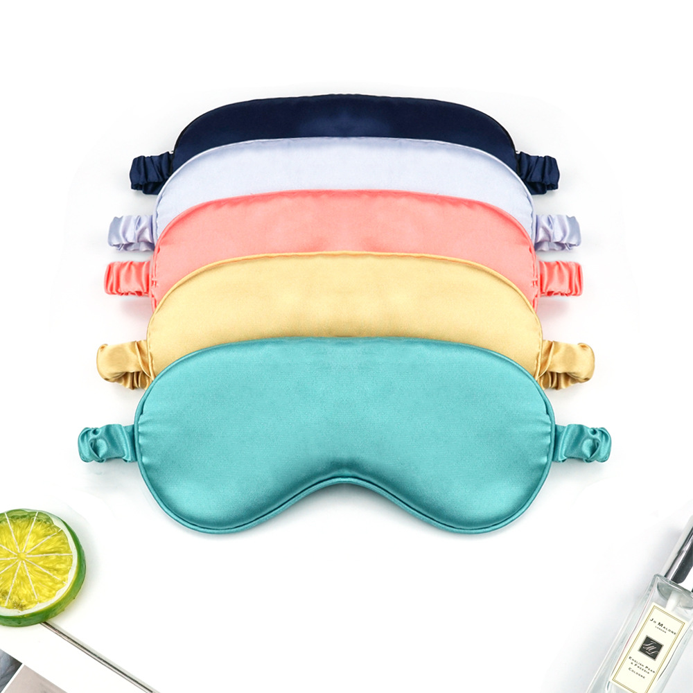 Women Imitated Silk Sleep Eye Mask Portable Travel Eyepatch Nap Eye Patch Rest Blindfold Eye Cover Sleeping Mask Night Eyeshade