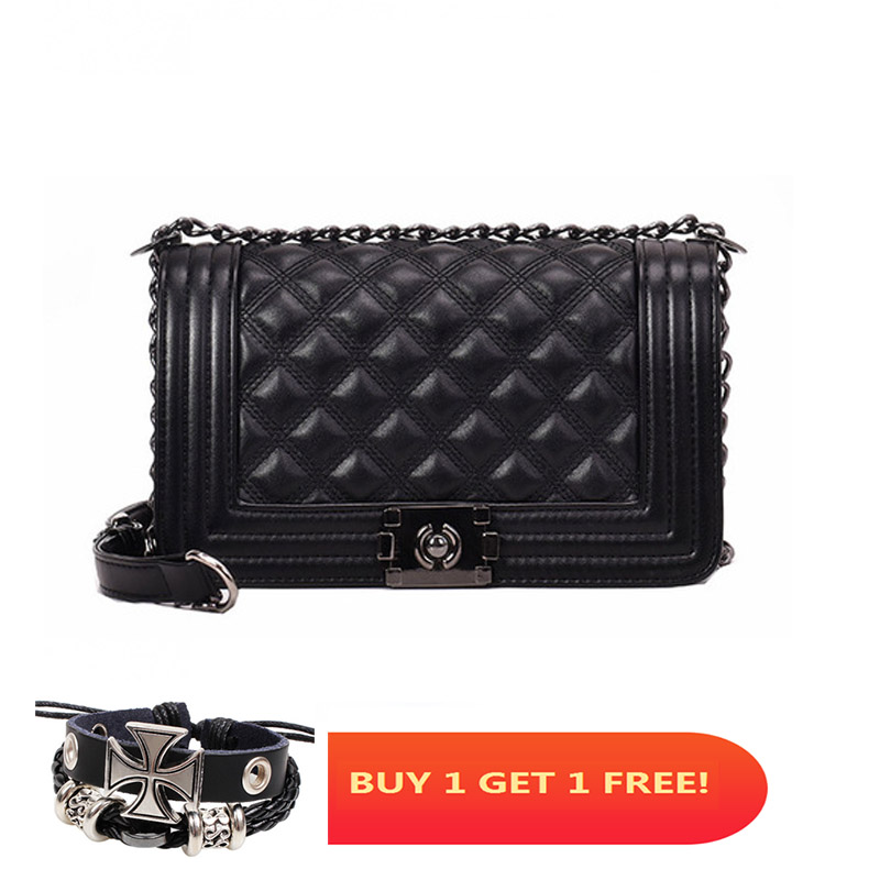 Image 2 - Luxury Quilted Bag Designer Famous Brand Women Bags Leather Ladies Handbags Lingge Crossbody Bags For Women Messenger Bag W435-in Shoulder Bags from Luggage & Bags