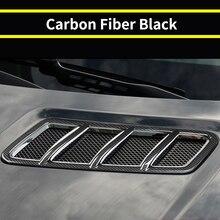 Car Hood Engine Air Outlet Frame Cover Carbon Fiber Accessories For Mercedes Benz GLE ML 2012-2019 / GL GLS 2013-2019 / W166