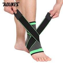 AOLIKES 1 PC Sport Ankle Brace Cinghia di Compressione Maniche Supporto 3D Tessuto Elastico Fasciatura Del Piede Equipaggiamento Protettivo Palestra Per Il Fitness