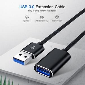 USB3.0 Удлинительный Кабель USB 3,0 кабель-удлинитель для передачи данных и синхронизации Удлинительный Соединительный кабель для портативных ПК геймерская мышь 3 м