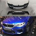 PP Black Front Bumper Rear Lip Diffuser for BMW 5 Series G30 G31 G38 2017 2018 Change to F90 M5 Style Bumper Car Styling
