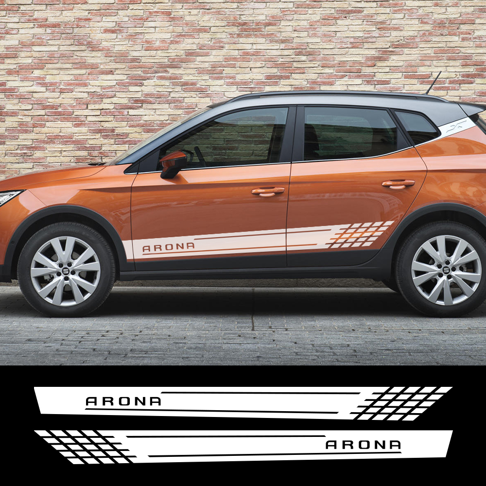 2pcs Vinyl Film Car Stickers Auto Styling Tuning Sport For Seat Ateca Arona Decoration Decals Waterproof Tuning Car Accessories