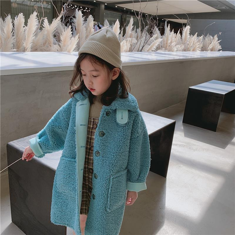 Multi-Color Baby Kids Girls Faux Fur Furry Warm Winter Jacket Parka Trench Coats