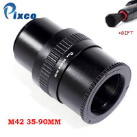 M42 to M42 Mount Lens Adjustable Focusing Helicoid Macro Tube Adapter 35mm to 90mm