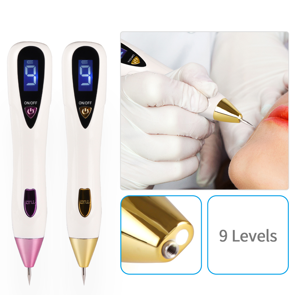 Skin Care Laser Mole Tattoo Freckle Removal Pen LCD Sweep Spot Mole Removing Dark Spot Remover Pen Salon Beauty Machine