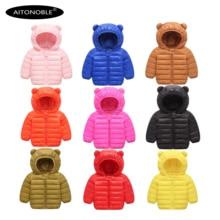 Aitonoble/ г. Зимняя куртка-светильник; детское зимнее пальто; зимняя детская куртка с капюшоном; зимняя верхняя одежда для малышей