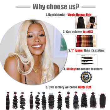 "Ali Queen Hair Peruvian Hair Weave Bundles Natural Wave Virgin Human Hair Natural Color 10\"" to 24\"" 100% Human Extensions"