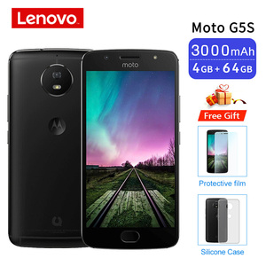 Image 1 - Global ROM Moto G5S XT1799 2 4GB 64GB Smartphone 5.2 Snapdragon 430 Front Rear 16MP Octa Core Cellphone Support NFC 3000mAh