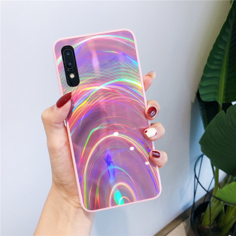 Glitter 3D Rainbow Mirror Soft Case Cover for Samsung Galaxy A50 A30 A70 A20 A10 M10 S8 S9 S10 Plus A9 A6 A7 2018 Note 8 9 10 + Lahore