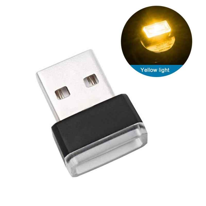 Interior Mini LED Starry Laser Atmosphere Ambient Projector Lights  USB Auto Decoration Night Lamp Auto Accessories
