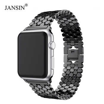 JANSIN link Stainless Steel Strap for apple watch band 42mm/38mm/40mm/44mm bracelet watch band for iwatch bands series 5 4 3 2 1 - DISCOUNT ITEM  52 OFF Watches