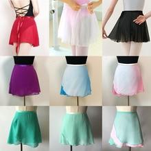 Ballet Dance Skirt Adult Children Chiffon Pure Color Floral Print Practice Leotard Dance Dress Women Ballet