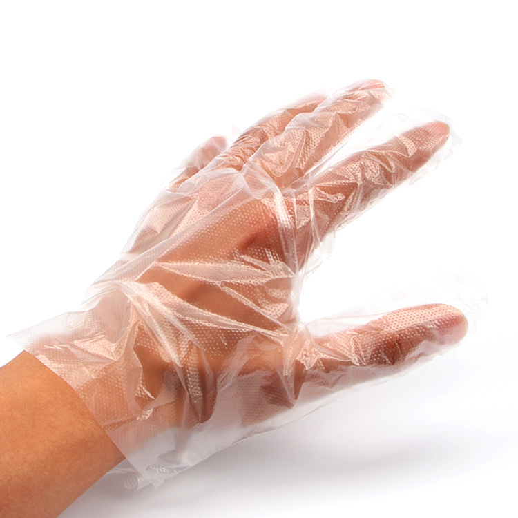 Hot 1000pcs / Pack  Disposable Gloves Plastic PE Film Gloves Gloves Anti Virus And Bacteria And Oil