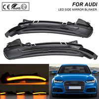 2X Rauch flash LED Dynamische Spiegel Blinker Licht Blinker Lampe Für Audi A6 4GH 4GJ 4G2 4G5 4GD 4GC c7 2010-