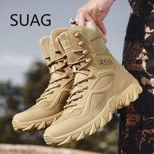 Mais tamanho: 39-46 novos eua botas de combate de couro militar para homens de combate bot infantaria botas táticas askeri bot exército bots sapatos do exército