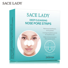 SACE LADY 24Pcs Nose Blackhead Sticker Remover Mask Deep Cleansing Purifying Peel Off Nasal Strips Facial Pores Face Skin Care