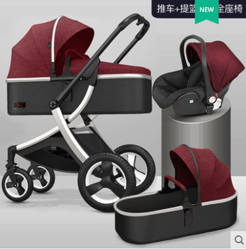 High landscape baby stroller can sit and lie two-way shock absorber lightweight folding newborn child baby stroller baby stroller ultralight portable folding can sit and lie high landscape shock absorber children baby pocket car boarding