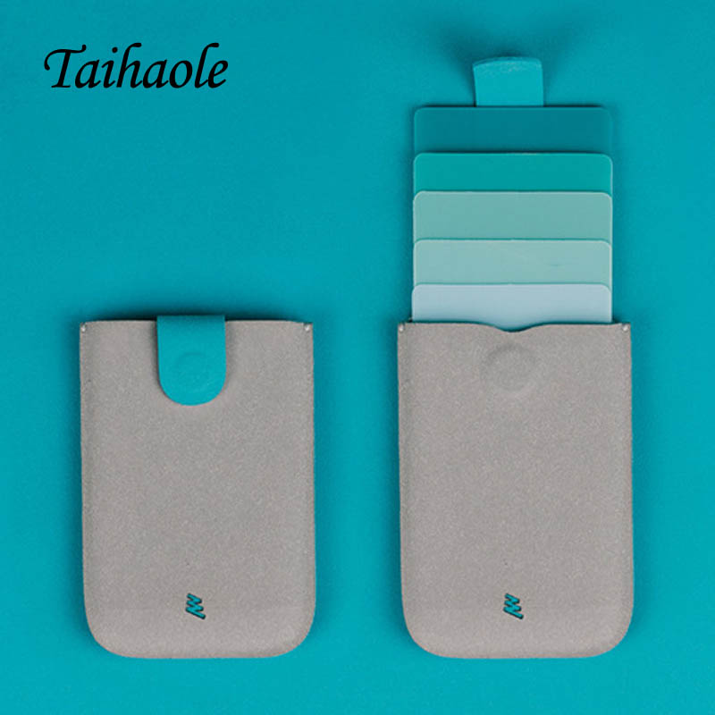 Taihaole New 2020 Men Women ID Credit Card Holder Protector Gradient Wallet Business Cards Case