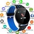 2020 119Plus reloj inteligente Bluetooth para hombres, reloj inteligente de presión arterial para mujeres, reloj deportivo, rastreador, WhatsApp para Android Ios