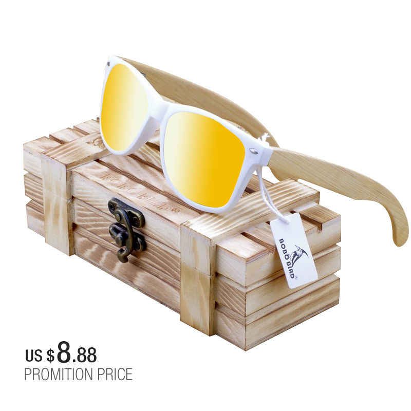 Мужские солнцезащитные очки BOBO BIRD Bamboo Legs поляризованные линзы солнцезащитные очки для женщин и мужчин с деревянной подарочной коробкой цветные солнцезащитные очки для него OEM