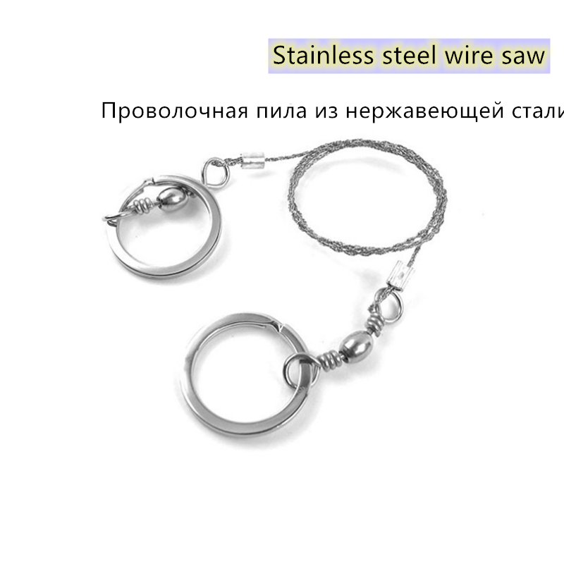 Emergency Survival Wire Saw Camp Hike Outdoor Mountain Climb Cut  Fish Hand Tool Fret Saw Stainless Steel Wire Saw