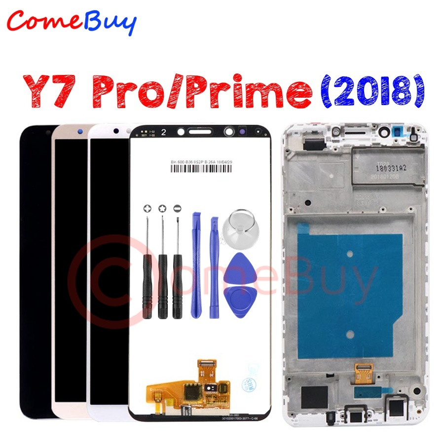 For HUAWEI Y7 Prime 2018 Y7 2018 LCD Display Touch Screen With Frame LDN L21 For Huawei Y7 Pro 2018 LCD Screen LND L22 L21 L29Mobile Phone LCD Screens   -