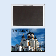 Nevsky church, Tallinn, Estonia tourist souvenirs,magnetic fridge magnets, Creative refrigerator Travel souvenirs Gifts terhi pääskylä malmström minu tallinn kalevitüdruku kroonika