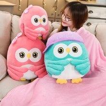 Novo 22-50cm super bonito animal coruja brinquedos de pelúcia bebê conforto crianças quarto decoração festa presente inverno mão cobertor quente