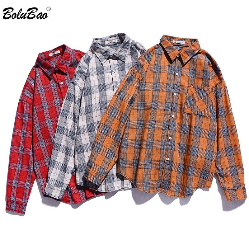 BOLUBAO Brand Men Long Sleeve Plaid Shirt Autumn Men's Comfortable Thin Section Shirt Male Business Casual Shirts Tops