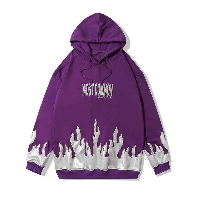 Oversize przyczynowy luźny sweter z kapturem kobiety mężczyźni brand New płomień nadruk w litery bluza z kapturem w stylu hip hop bluza z kapturem dla par