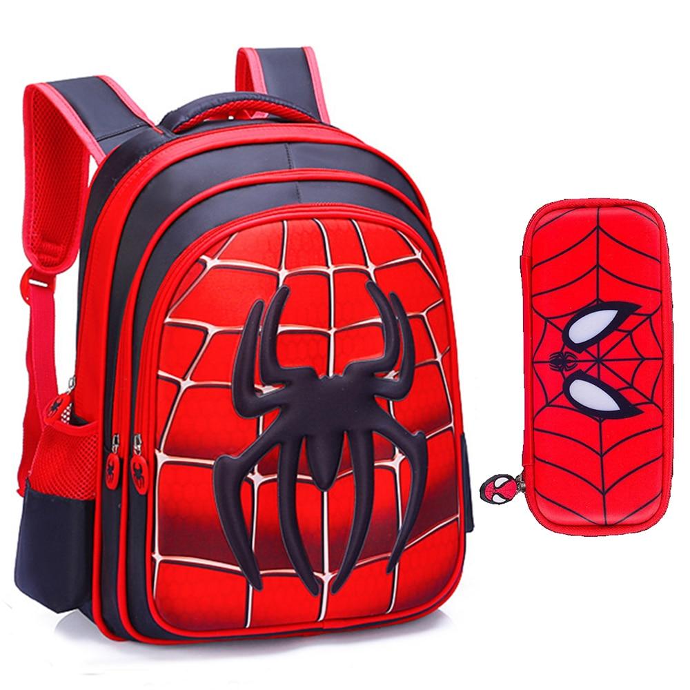 3D 5-13 Years Kids Waterproof School Bag Backpack For School Teenagers Boy Fashion Children Anime Rucksack Girls Mochila Escolar