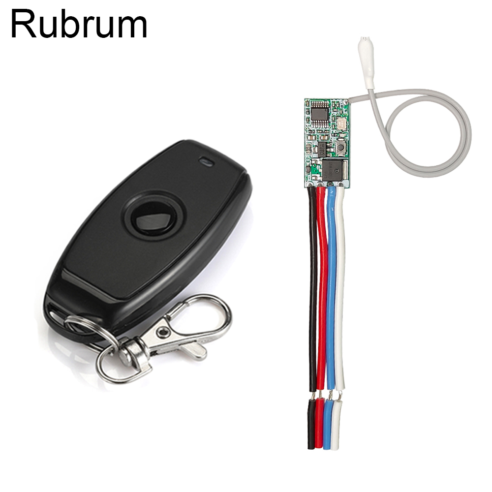 Rubrum 433mhz DC 3.6V 6V 12V 24V 1CH Relay Wireless RF Remote Control Switch Mini Module With Transmitter For LED Lamp Light DIY