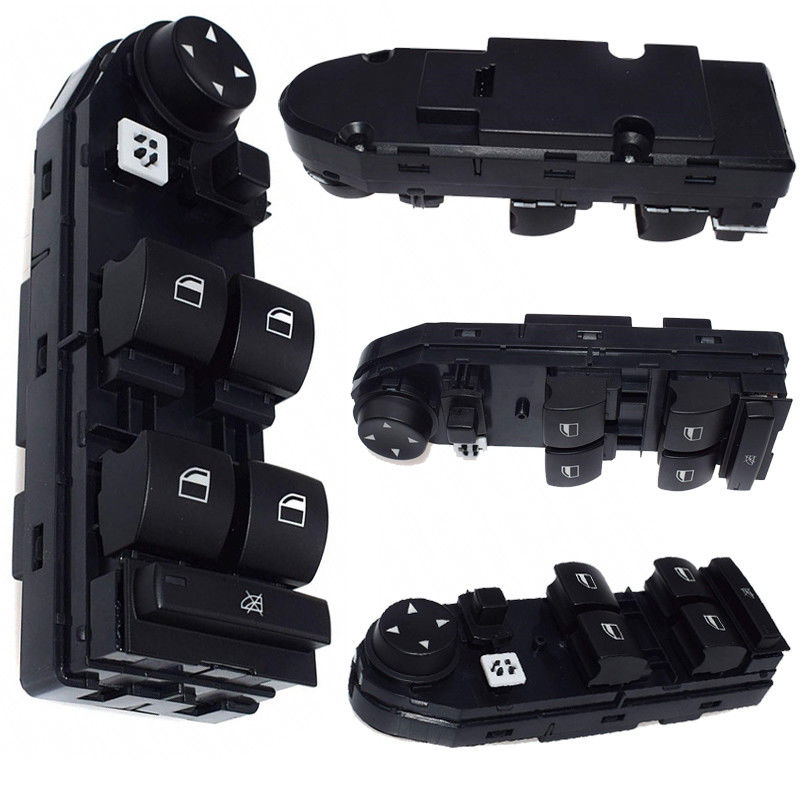 New Black Plastic 2004-2010 E83 Unit Driver Door Glass Lifter Switch Electric Window Switch for BMW X3 Auto Interior