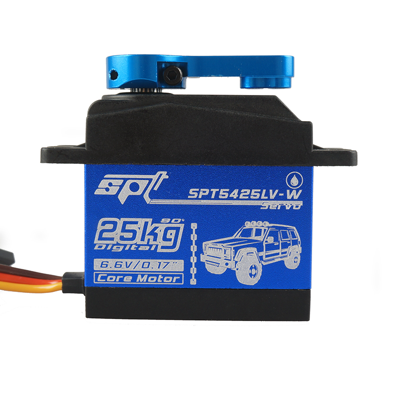 Image 5 - Waterproof Metal Gear SPT 5425lv 25kg Large Torque Digital Coreless Servo for RC Car TRAXXAS Crawler TRX4 baja boat Robot-in Parts & Accessories from Toys & Hobbies
