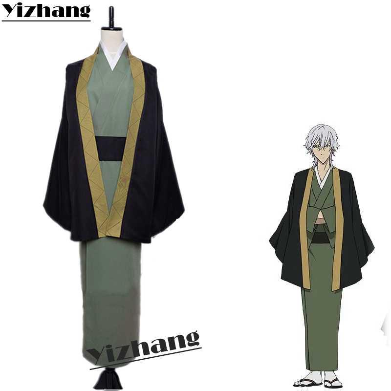 Yizhang Anime Bungo Anjing Liar Nakajima Atsushi Dazai Osamu Fukuzawa Yukichi Nakahara Chuya Cosplay Kostum Seragam Set Pakaian