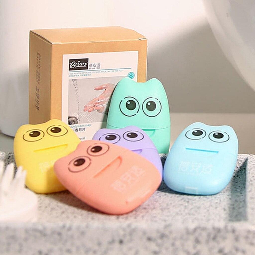100PCS Travel Soap Paper Washing Hand Bath Clean Scented Slice Sheets Disposable Antibacterial Boxe Soap Portable Mini Paper Soa