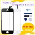 ЖК-экран с дигитайзером для iPhone 5 5c, сенсорный экран, переднее стекло, стекло, дигитайзер, с инструментами