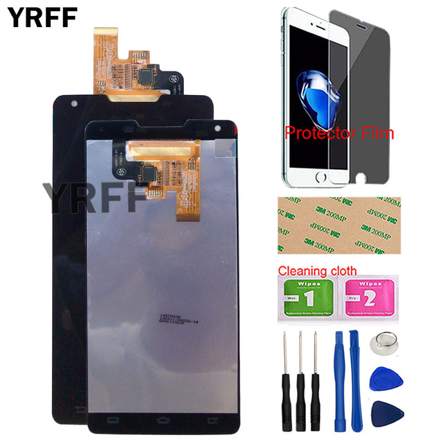 LCD Display Mobile For Philips Xenium W6610 W6618 LCD Display + Touch Screen Digitizer Assembly Tools Tape Protector Film
