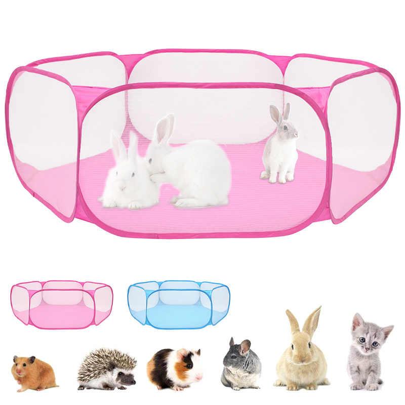 휴대용 애완 동물 울타리 Foldable 작은 개 고양이 동물 케이지 게임 놀이터 울타리 햄스터 Chinchillas 및 기니 돼지