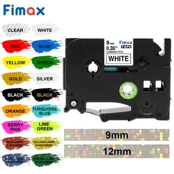 Multicolor tze-221 Tze221 9mm Compatible for Brother p-touch label printers Tze tape Tze231 Tze 221 Tz-221 label ribbon
