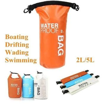 2L/5L Waterproof Dry Bag Backpack Floating Boating Kayaking Camping Water Resistance Letter Print