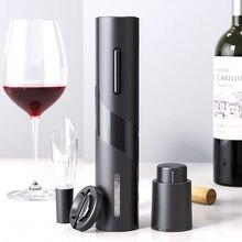 Abridor de vinho elétrico recarregável automático saca-rolhas abridor de garrafa de vinho criativo com cabo de carregamento usb terno para uso doméstico