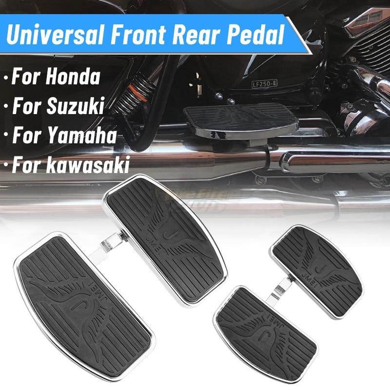 Мотоциклетные задние Пассажирские подножки, напольные подножки, подножки для KAWASAKI Vulcan, для Honda Shadow, для Yamaha Dragstar Universal