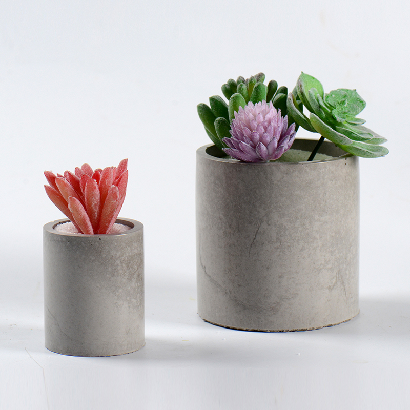 Round Flowerpot Silicone Mold Cement Pot Making Mold Handmade Pen Holder Resin Mould