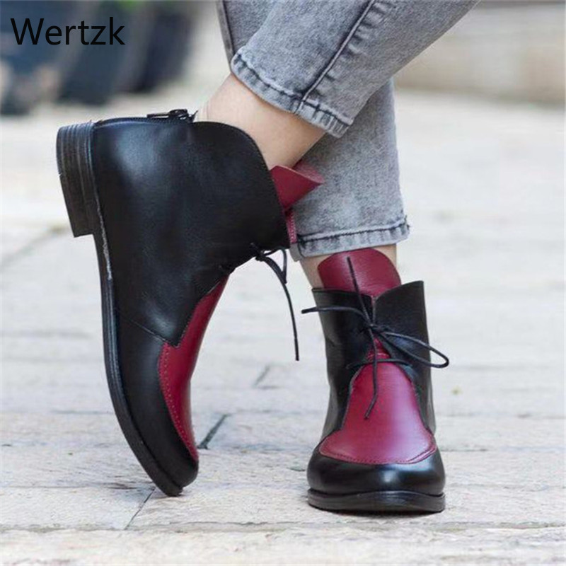 Женские ботинки челси на шнуровке, с острым носком, сезон весна осень, B297, 2020|Полусапожки|   | АлиЭкспресс