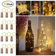 2 м 20 светодиодный светильники в форме винных бутылок пробковая гирлянда с питанием от аккумулятора DIY рождественские гирлянды для вечерние свадебные украшения на Хэллоуин