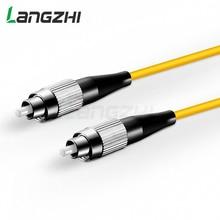 10 PCS FC UPC to FC UPC  Simplex 2.0mm 3.0mm PVC Single Mode Fiber Patch Cable sc apc patch cable 3m