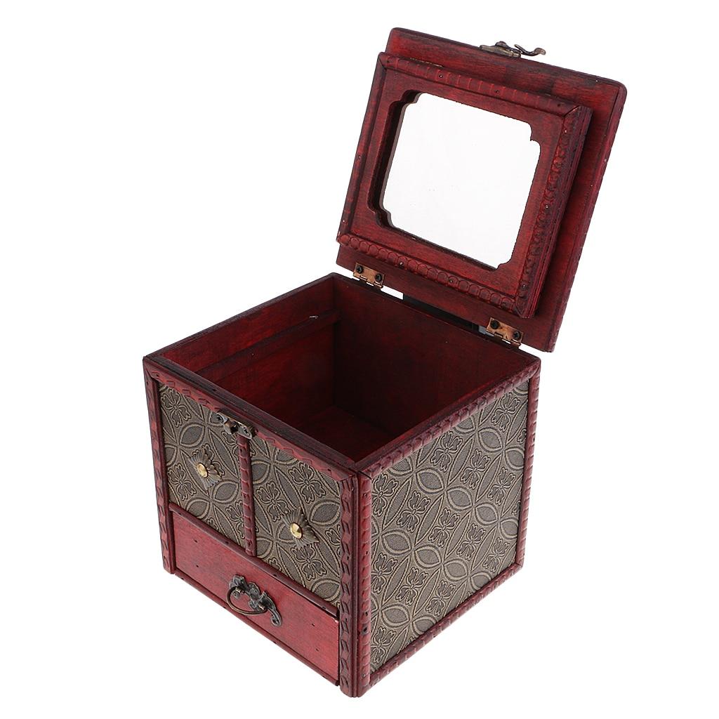 Caixa de joias antiga, organizador de joias