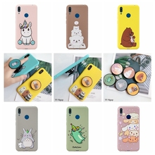 Huawei Y5 Y6 Y7 Y9 Prime 2019 Phone Case Kawaii Unicorn Stand Holder Silicone Cover for etui